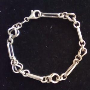 "Vtg 925 Sterling Silver 8"" Bracelet made in Italy."